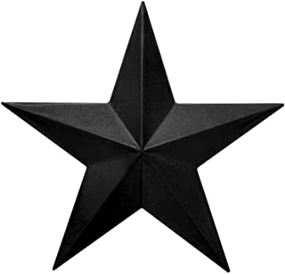 """Best EcoRise Black Barn Star – Star Wall Décor, Metal Stars for Outside or Inside of House, Iron Texas Metal Star Rustic Vintage Western Country Home Farmhouse Wall Art Decorations (12"""") Review"""