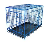 JAMES & STEEL My Pet Dog Crate, Blue, 24-Inch