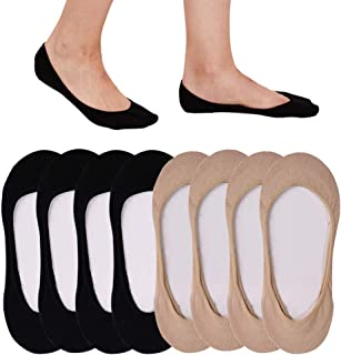 4 to 8 Pack Ultra Low Cut No Show Socks Women Invisible...