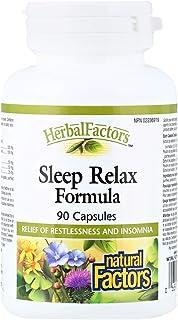 Natural Factors Sleep Relax Formula 90 Capsules, 100 Gm