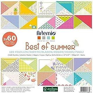 Artemio 11002270 Set de 180 Papier Scrapbooking, Multicolore, 30,5 x 2,3 x 30,5 cm