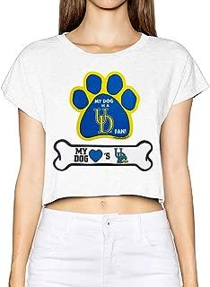 University Of Delaware Mascot YoUDee Popular Women's Crop Tops