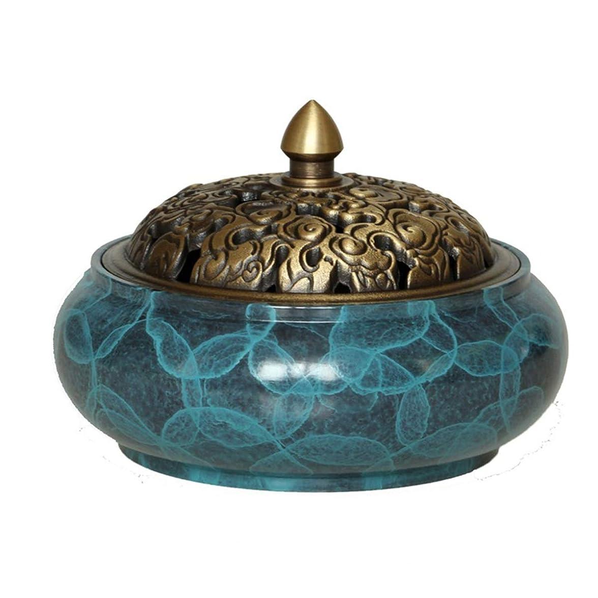 楽しい適切なバンド銅線香ホルダーバーナー銅製の灰キャッチャートレイボウル、家、オフィス、茶屋、瞑想、ヨガなどのための真鍮線香ホルダー