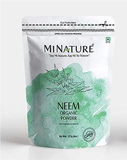 mi nature Neem Leaf Powder (AZADIRACHTA INDICA)/ 100% Pure, Natural and Organic - (227g / (1/2 lb) / 8 ounces) - Resealabl...