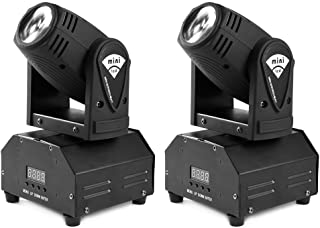 MFL. 10w LED Moving Head Light RGBW Stage Light Mini Moving Beams Rotating Moving Head DMX512 Sound Activated Master-slave Auto Running for DJ Party Disco KTV Nightclub Lives 2 pcs(Beam Light)