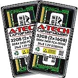 A-Tech 32GB Kit (2x16GB) DDR4 2400 MHz SODIMM 260-Pin PC4-19200 2Rx8 1.2V CL17...