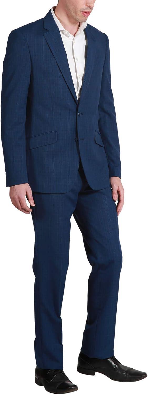 Adam Baker Men's Slim Fit Single Breasted Notch Lapel 2-Piece Suit