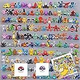 147 pcs/Set Juego de muñecas Pokemon Bolsillo Lindas Mini Figuras 2-3 cm Juguetes Figuras Pegatina Bola para Regalo Infantil Decoraciones de Escritorio