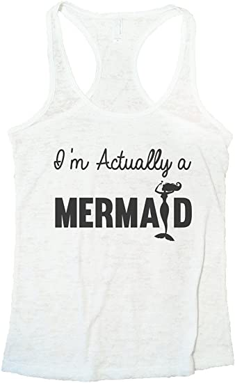 workout tank Mermaid Ladies\u2019 Muscle Tank yoga tank top mermaid off duty funny mermaid shirt cotton tank graphic shirt