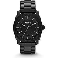 Men's 42mm Machine Black IP Stainless Steel Dress Watch