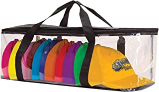 Universal Usage Baseball Hat Organizer Plastic Storage Case for Caps Clear Hat Storage Boxes Perfect for Display, Black, Size 10 Hats