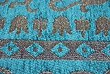 Moderner Teppich Designer Teppich Orientteppich Wohnzimmer Teppich mit Bordüre in Türkis Beige Größe 160x230 cm - 2