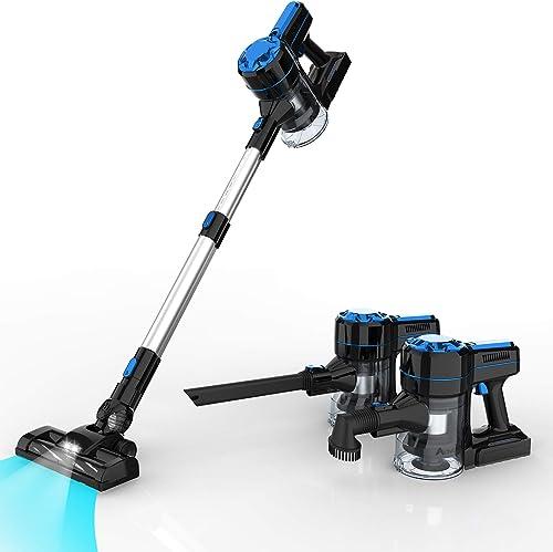 Advwin Vacuum Cleaner, 3 in 1 Powerful 7-12Kpa Motor Stick Vacuum, Lightweight Stick Hand Vacuum Cleaner with LED Lig...