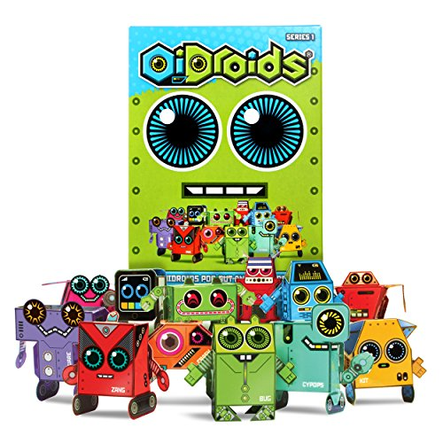 OiDroids Series of 15 Papercraft Robot Cards by OiDroids
