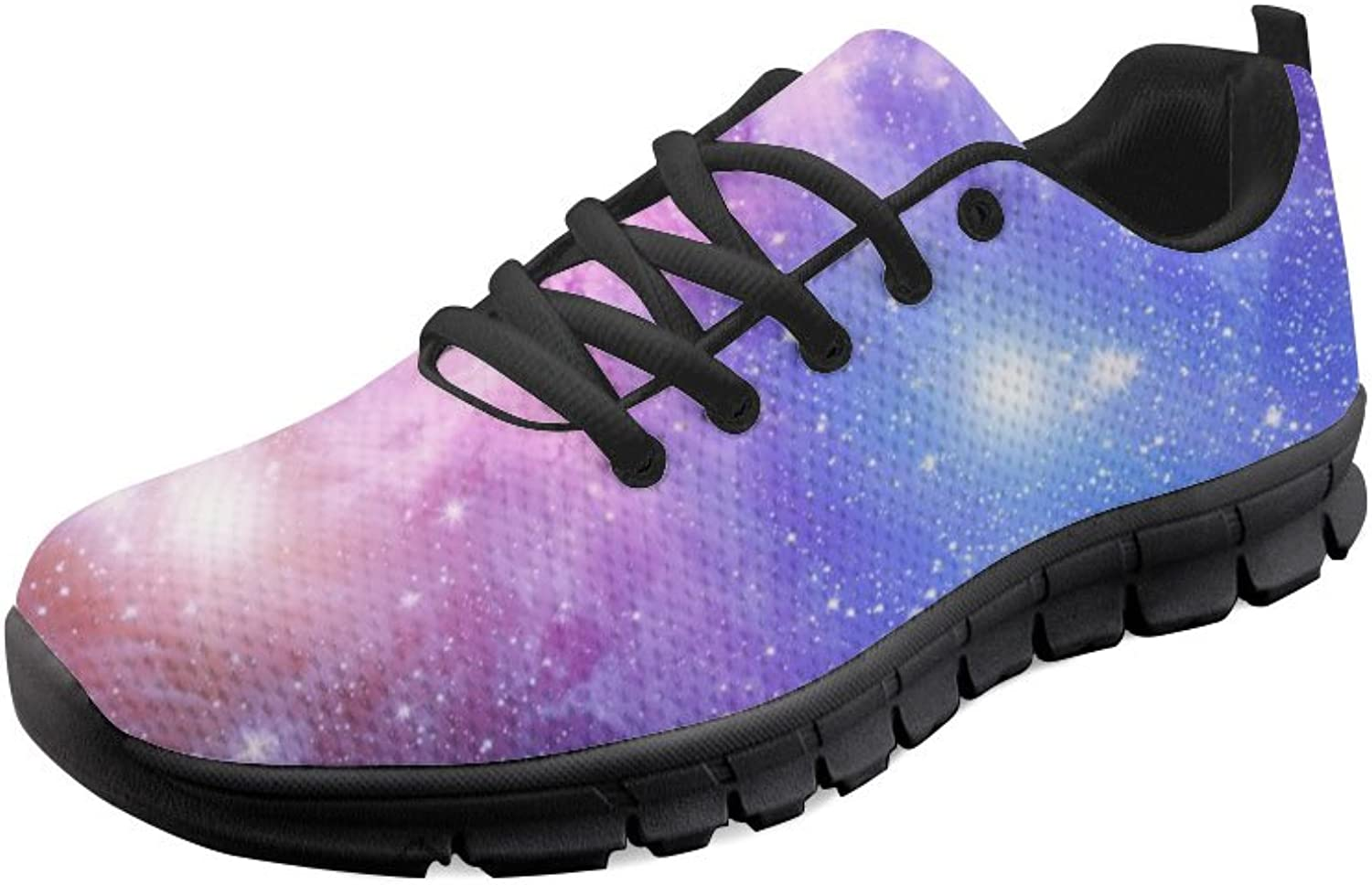 Doginthehole Galaxy Print Women's Sneakers Casual Running shoes Flat Sport shoes
