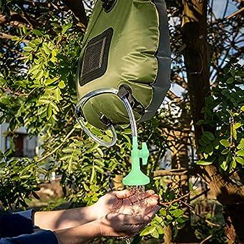 HOLEMZ Sac de Douche Solaire Extérieur 20L Douche Solaire Camping Flexible Eau Chaude avec Température Chauffé à L'énergie pour Randonnée Escalade