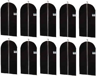 (AP24) 10 x Sac de vêtements Housse de vêtements Protecteurs de vêtements Rangement 100 x 60 cm - Noir, 100 x 60 cm
