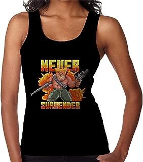 RHEYJQA Never Surrender Soldier Pixel Art Women's Vest