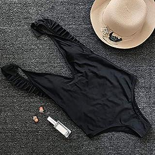 ملابس سباحة نسائية من Extaum مفتوحة من الخلف قطعة واحدة بكشكشة ورقبة على شكل حرف V