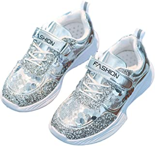 Hopscotch Boys and Girls PU Athletic Shoes - Silver