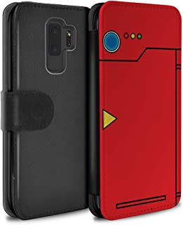 Phone Case Wallet for Samsung Galaxy S9 Plus/G965 Anime Cartoon Codex Red Design Flip Faux PU Leather Cover
