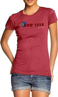 TWISTED ENVY Womens T-Shirt Funny Geek Nerd Hilarious Joke New York American Football Established