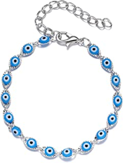 Droutti Evil Eye Bracelet for Women Girls Adjustable Amulet Evil Eyes Creative Couple Bracelet Turkish Blue Eye Chain Brac...