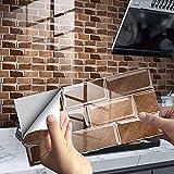 DriSubt Juego de 16 adhesivos para azulejos, resistentes al aceite, cenefa, resistente al agua, para cocina o baño (15 x 30 cm)