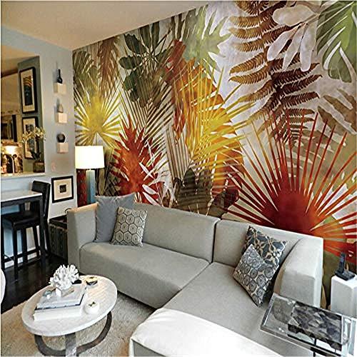 Fototapete vlies Wandbild XXL wohnzimmer Tapeten outheast asiatische Art-Palmblatt-Kunst für 3D Fototapete