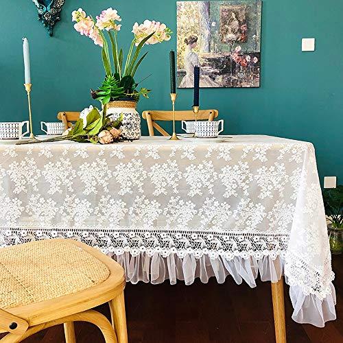 LUNANA Tafelkleed Rechthoek Tafelkleed Stofdichte Tafelhoes voor Keuken Dineren Tafelblad Decoratie Tafelblad Cover Eenvoudige Scandinavische Stijl Tafelkleed - 170X250CM