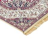 Klassischer Keshan-Teppich aus Kunst-Seide, Rubine 317 Gold 2 pz. cm.70x110 + 1 pz. cm. 80x150 gold - 2