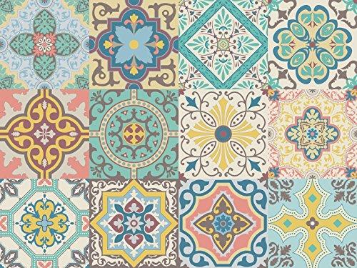 Vinilo decorativo autoadhesivo con diseño de azulejos portugueses de