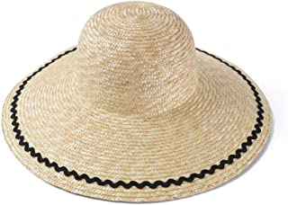 SHENTIANWEI INS Holiday Wind Straw Straw hat Female Summer Big Visor Sun hat Holiday Travel Photo hat (Color : Wheat-Colored)
