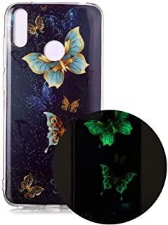 Hllycr Huawei Y7 2019 Cover Case,Huawei Y7 2019 Back Cover Shock Absorption TPU Rubber Gel