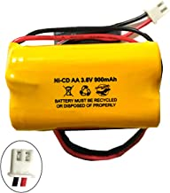 Unitech AA900MAH 3.6V 6200RP 6200-RP Exitronix 10010037 Lowes 253799 TOPA 3.6v 900mAh Ni-CD Battery Pack Replacement for Exit Sign Emergency Light Fire Batteryhawk, LLC