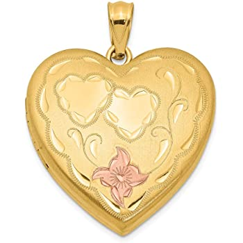 Me Breakable Heart Pendant Jewelry Pilot 14K Two-tone Gold Mommy