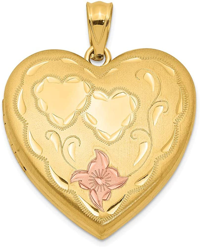 1/20 Gold Filled 4 Frame Enameled Heart Photo Pendant Charm Locket Chain Necklace That Holds Pictures Fashion Jewelry For Women Gifts For Her