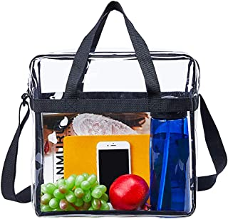Clear Tote Bag,NCAA NFL&PGA Stadium Approved Clear Bag with Adjustable Shoulder Strap and Double Zippered,Perfect for Work, School , Sports Games and Concerts -12