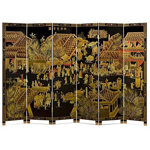 Find Cheap ChinaFurnitureOnline Chinoiserie Floor Screen, Hand Painted Spring Festival Design Room D...