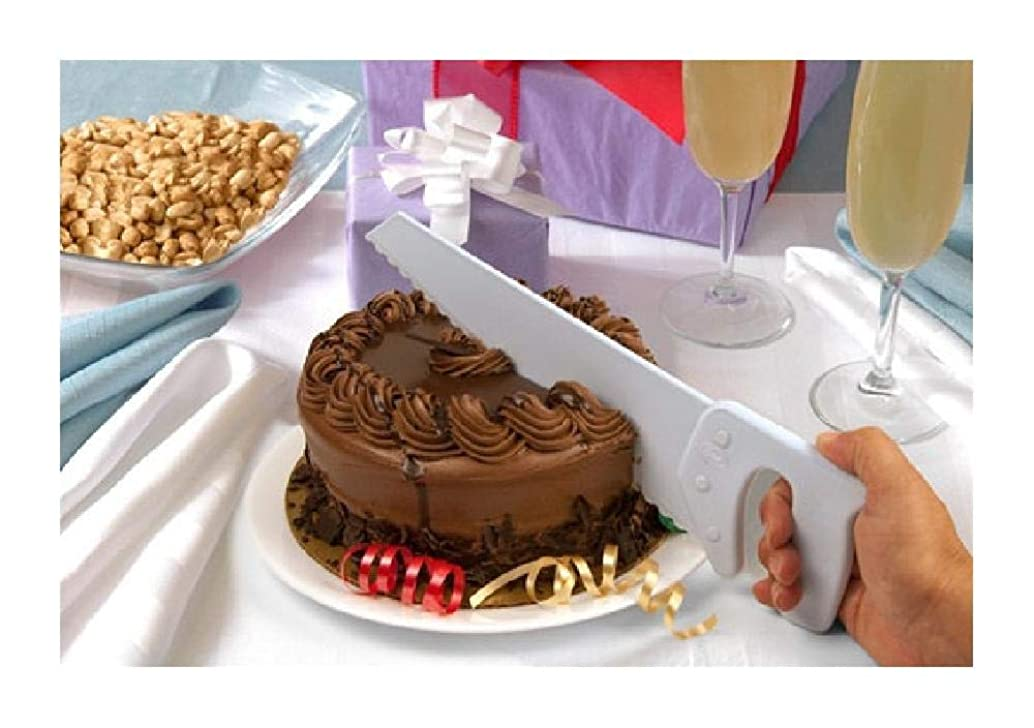Bargain World Table Saw Cake Knife (with Sticky Notes)