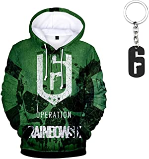 23Vision Unisex 3D Print RainbowSix Siege Hoodies Women Men Pullover Sweatshirt with Free RainbowSix Keychain