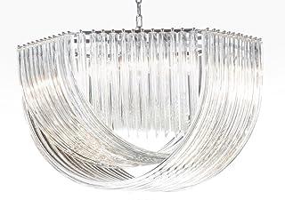 LAMPADARIO triedo vetro vintage ottagOnale vetro murano glass hand made