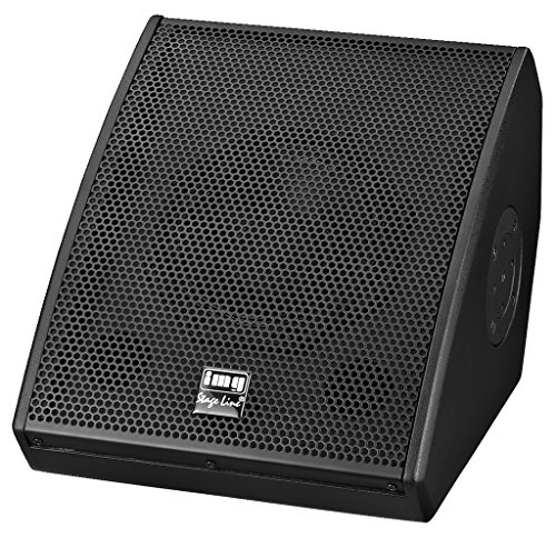 IMG STAGELINE PAK-308M/SW Aktive Universal PA-Lautsprecherbox mit DSP, 370 W schwarz