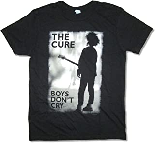 The Cure Boys Don't Cry Grey Image Black T Shirt