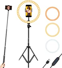 10 Inch Selfie Ring Light with Stand and Phone Holder, Led Ring Light for YouTube Video, Makeup, Photography,Live Steaming & Photo,3 Light Modes & 10 Brightness Level.