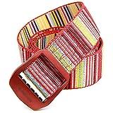 Yingm Excelente Textura Cinturón de decoración Casual de aleación de Aluminio de Color Mujeres de Lona al Aire Libre para Mujer Cinturón de Lona Duradero (Color : Rojo, Size : 105cm)