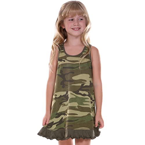 Unique Baby Girls My Dad Hunts Camo Fathers Day Dress