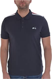 Lambretta Mens Scooter Badge Cotton Short Sleeve Polo Shirt - Navy - 3XL