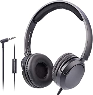 Avantree Superb Sound Wired On Ear Headphones with Microphone, 1.5M / 4.9FT Long Cord with Mic for Adults, Students, Kids,... photo