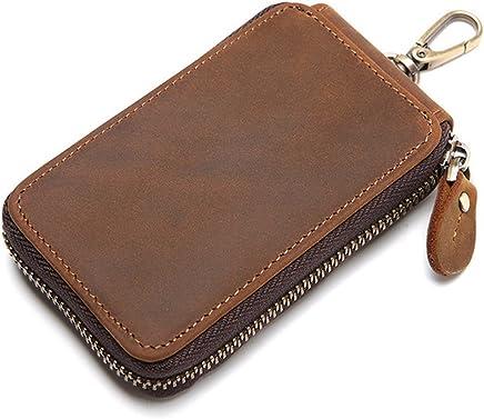 efc7a95bc493 Mayshe Men s Genuine Leather 7 Hook Key Case Car Key Holder Wallet Coin  Purse